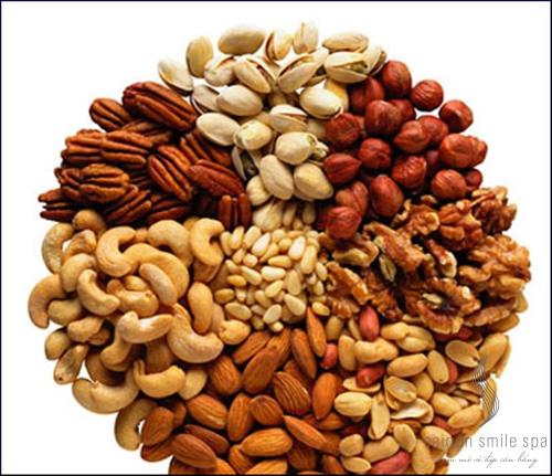 Ăn các loại hạt chống lão hóa da