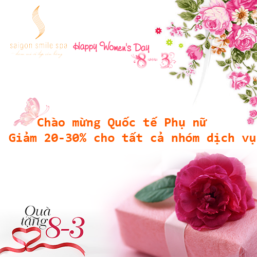 Chương trình Khuyến mãi Dịch vụ trị nám tàn nhang Saigon Smile Spa lớn nhất trong năm nhân dịp 8-3