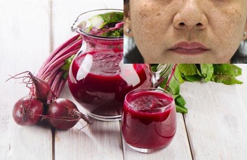 cách trị nám da mặt bằng củ dền đỏ